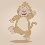 猴子乐趣字符动画片书 免版税库存照片