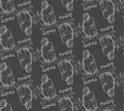 猴子剪影板刻 图库摄影