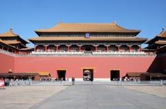 子午门午门在故宫,北京 免版税库存照片