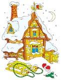 子句房子圣诞老人 免版税库存图片