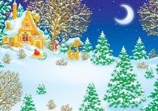 子句房子圣诞老人 免版税库存照片