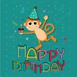 猴子庆祝 库存图片