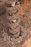 钻子开掘孔 库存照片
