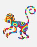 猴子抽象颜色 库存照片