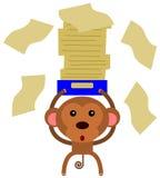 猴子文书工作 免版税库存图片