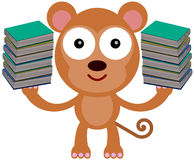 猴子的书 库存图片