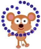 猴子的字母表 图库摄影