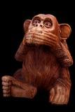 猴子的小雕象 库存图片