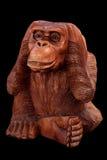 猴子的小雕象 免版税库存照片