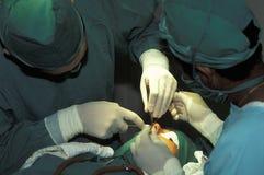 鼻子的整容手术 库存图片