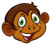 猴子的头 库存例证