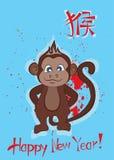 猴子的年 皇族释放例证