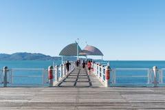 子线跳船或码头,汤斯维尔,澳大利亚 免版税图库摄影