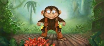 猴子警长 库存照片