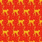 猴子设计的中国黄道带年 免版税库存照片