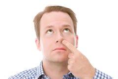 鼻子采摘 库存照片