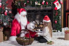 子项克劳斯・圣诞老人 库存照片