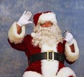 子项圣诞老人看见通知 库存照片