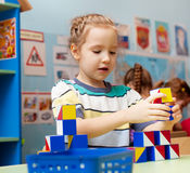 子项在幼稚园 免版税库存照片