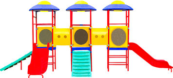 子项的五颜六色的操场。 查出  免版税库存图片