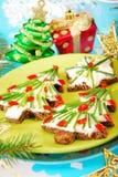 子项的圣诞节早餐 免版税库存图片