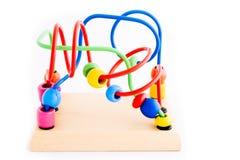 子项的木玩具 免版税库存图片