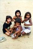 子项Kaapor,巴西的当地印地安人 库存图片