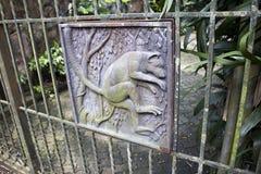猴子题材铁篱芭 图库摄影