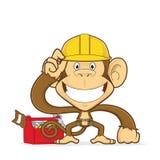 猴子建造者 库存例证