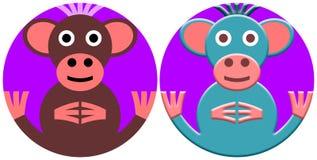 猴子-风格化图画 免版税库存图片