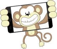 猴子selfie 免版税库存照片