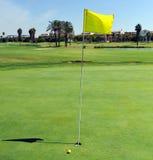 孔在肋前缘Ballena高尔夫球场,花名册,卡迪士省, Spaingreen, 库存照片