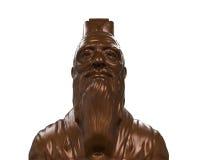 孔子古铜色雕象  免版税库存照片