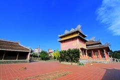 孔子寺庙会安市,越南联合国科教文组织世界遗产名录 图库摄影