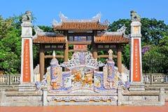 孔子寺庙会安市,越南联合国科教文组织世界遗产名录 免版税库存图片