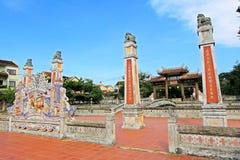 孔子寺庙会安市,越南联合国科教文组织世界遗产名录 免版税库存照片