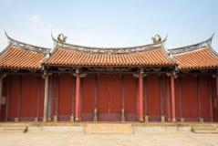 孔子寺庙在彰化,台湾 免版税库存图片