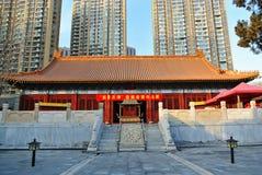 孔子寺庙在现代天津 图库摄影