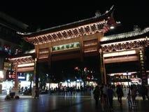 孔子寺庙的古老门在南京 库存照片