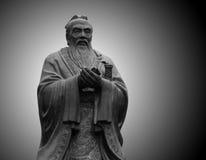孔子雕象 免版税图库摄影