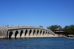 17孔桥梁 库存照片