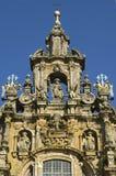 孔波斯特拉的圣地牙哥大教堂,加利西亚,西班牙 免版税库存图片