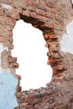 孔砖墙 免版税库存图片