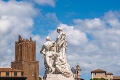 孔科尔迪亚瓦雷泽卢多维克Pogliaghi,在君主制和人民之间的镇定,阿尔塔雷della帕特里亚,威尼斯广场, 库存图片