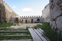 孔苏埃格拉中世纪城堡托莱多,西班牙省的  免版税库存照片