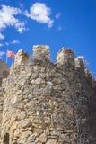 孔苏埃格拉堡垒中世纪城堡托莱多省的, 库存图片