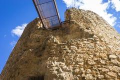 孔苏埃格拉堡垒中世纪城堡托莱多省的, 库存照片