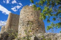 孔苏埃格拉塔中世纪城堡托莱多, Sp省的  免版税库存图片
