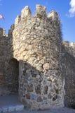 给孔苏埃格拉装门中世纪城堡托莱多,温泉省的  库存照片