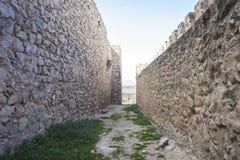 孔苏埃格拉设防中世纪城堡省的  免版税库存照片